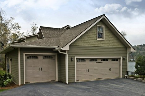house with new garage doors
